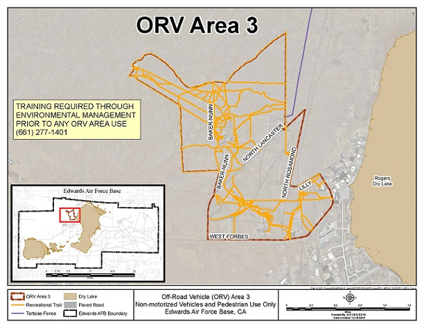 Off Road Vehicle Area Edwards AFB ISportsman Service ISportsman - Edwards afb map